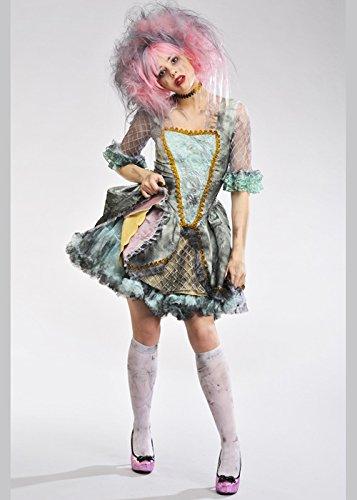 Delights Womens Deluxe Halloween Ghost Marie Antoinette Princess Zombie Costume (Medium (UK ()