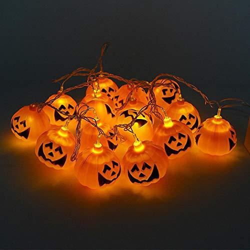 (Holeider Halloween Hängeleuchte Kürbislicht Dekoration Beleuchtete Schädel Skeleton Ghost Lichter Kürbis Lichter Licht Klassenzimmer Bars Set Requisiten)