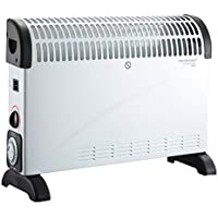 DONYER POWER Convector Radiator Heater with Adjustable Thermostat and 24-Hour Timer Free Standing in white, 2000 Watt