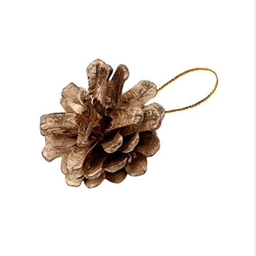 Yeucan Weihnachten Tannenzapfen Anhänger Baum Dekoration Handwerk Startseite Ornament, Gold