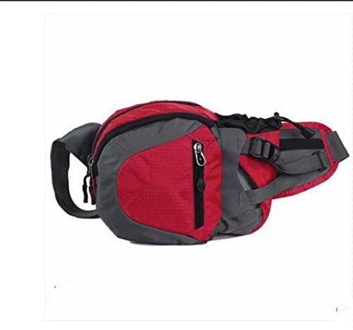ZYT Geldbeutel Frauen und Männer Reiten Tasche Telefon Wasserflasche Taschen Sommer multifunktionale Brust Pack ausgeführt Red