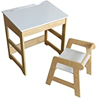 My Note Deco 066087oficina escolar y asiento mesa: Larg 57x Prof 41x Alto 57/60, 5cm asiento: Larg 36.5x Prof 38x alto 40cm