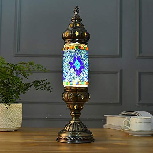 Yhongyang Handgemachte türkische Lampe marokkanischen osmanischen Stil Mosaik Home Retro Tisch Licht Schlafzimmer Restaurant Cafe Dekoration Lampe,B -