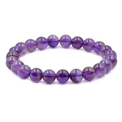 Whitewhale Amethyst Natural Gemstone Round Beads Stretch Bracelet Healing Reiki 8mm