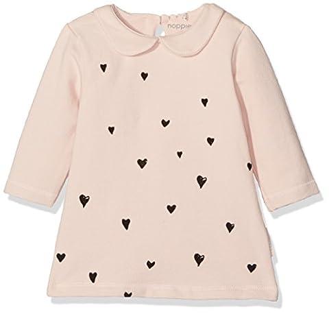 Noppies Baby-Mädchen Kleid G Dress Sweat Ls Ischia Rosa (Blush C093), 74