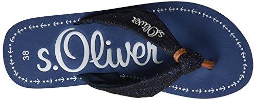 s.Oliver - 27103, Sandali infradito Donna Blu (NAVY 805)