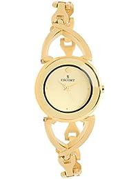 Escort Analog Beige Dial Women's Watch- 4305 GM