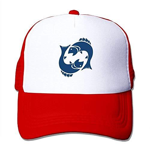 deyhfef Zodiac Pisces Adjustable Sports Mesh Baseball Caps Trucker Cap Sun Hats ()