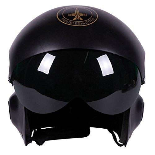 enhelm schwarz Einheitsgröße Air Force Kopfbedeckung Kampfpilot Kostüm Zubehör ()