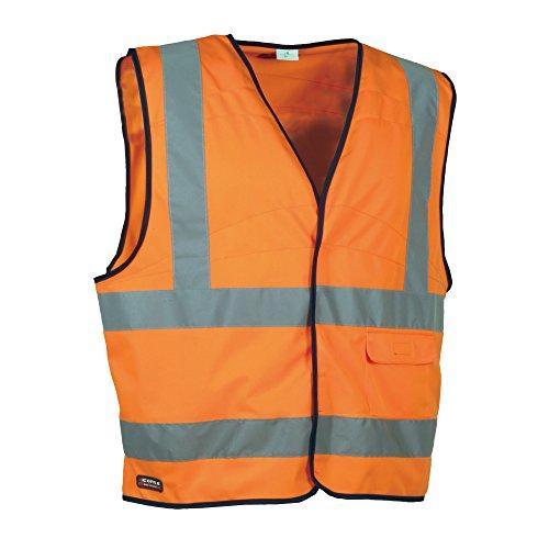 Cofra Cofra Warnweste Clear V073-1 Warnschutz Weste in Signalfarbe, orange, 40-00V07301-XL