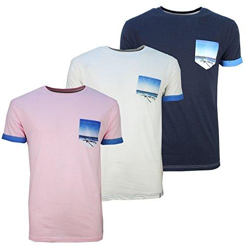 SoulStar -  T-shirt - Collo a U  - Uomo Pink