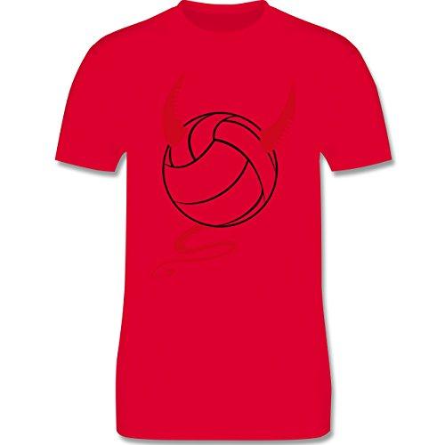 Volleyball - Teufel Volleyball Teuflischer - Herren Premium T-Shirt Rot