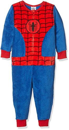 Spiderman Jungen Einteiliger Schlafanzug Dress Up, Blau (Blue 003), 4-5 Jahre