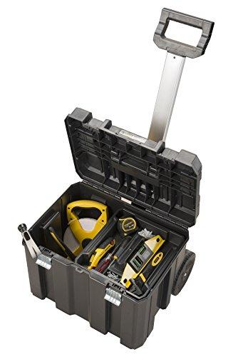Stanley FatMax Mobile Werkzeugbox / Werkzeugkoffer TSTAK (zum Aufbewahren und Transportieren, Teleskophandgriff, Komfortgriff, Metallschließen, Ösen für Vorhängeschloss, Etikettenhalter) FMST1-75753 - 3