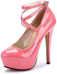 426feba20cd OCHENTA Women s Ankle Strap Platform Pump Party Dress High Heel