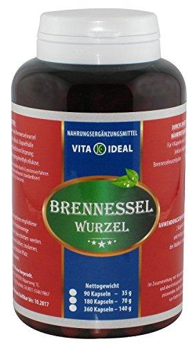Brennessel Wurzel Kapseln, 360 Kapseln je 300 mg mit rein natürlichem Pulver, ohne Zusatzstoffe im Big Pott