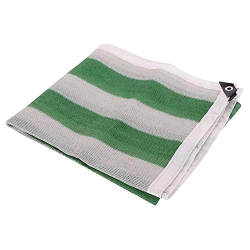 MYMAO 01Beschattungsnetz grün und weiß gestreiften Schatten Tuch Sonnenschutz Stoff UV-Schutzplane für Gartenbalkon Schuppen,6x8m - Schuppen 6 8 X