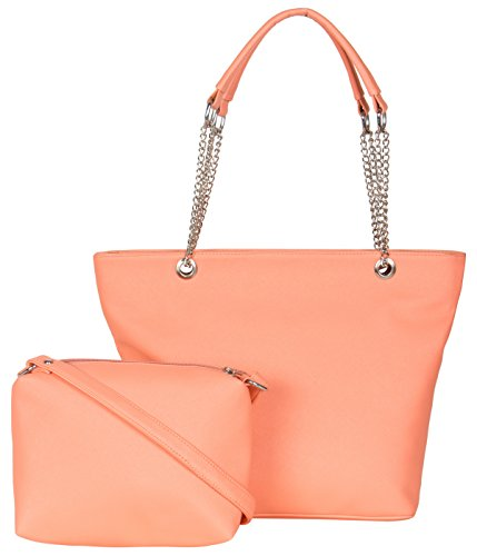 ADISA AD2012 peach women handbag with sling bag