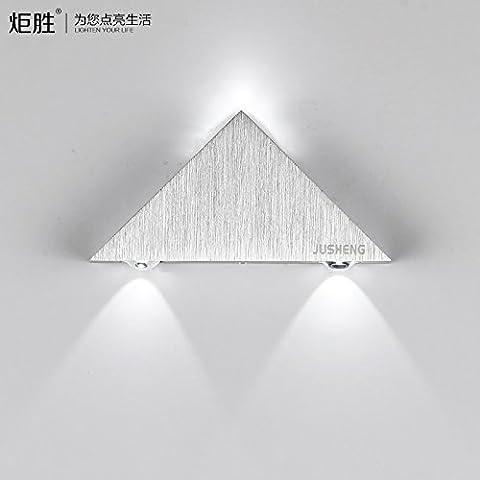 midtawer Utilità risparmio atmosferica nello stile lampada da parete LED luci, è bianco