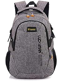 ZFLIN Bolsa de estudiantes de ocio para hombres y mujeres mochila de viaje mochila deportiva