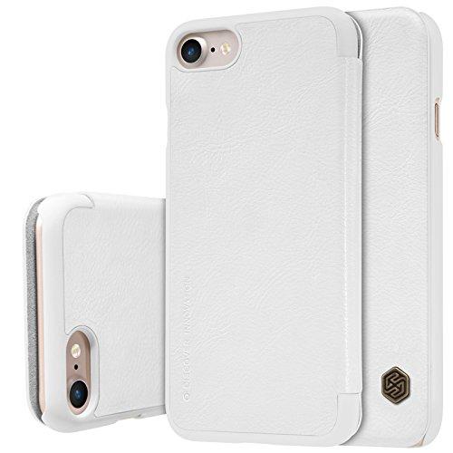 BCIT iPhone 8 Hülle - Fortgeschrittene PU Leder Flip Cover Ledertasche Handyhülle Tasche Case für iPhone 8 - Weiß Weiß
