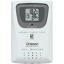 Oregon Scientific THGR810 Sensore Termoigrometro per Stazioni Meteo Professionali, Plastica, Bianco, 0.092x0.060x0.020 cm