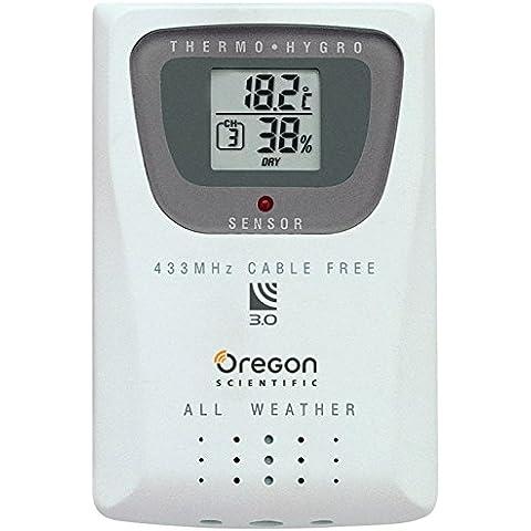 Oregon Scientific THGR810 - Sensor de temperatura y humedad (AAA, 6,35 cm, 1,9 cm, 9,52 cm, -30 - 60 °C,