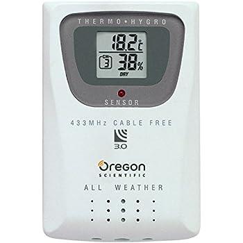 Oregon Scientific Thermo-/Hygro-Sensor, Weiß, 6.4 x 1.9 x 9.5
