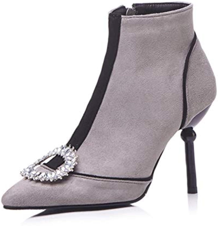 CITW Stivali Stivali Stivali Donna Moda Stivali Autunno E Inverno Scarpe Donna Strass di Grandi Dimensioni Short Stivali Camoscio... | Caratteristico  3736c8