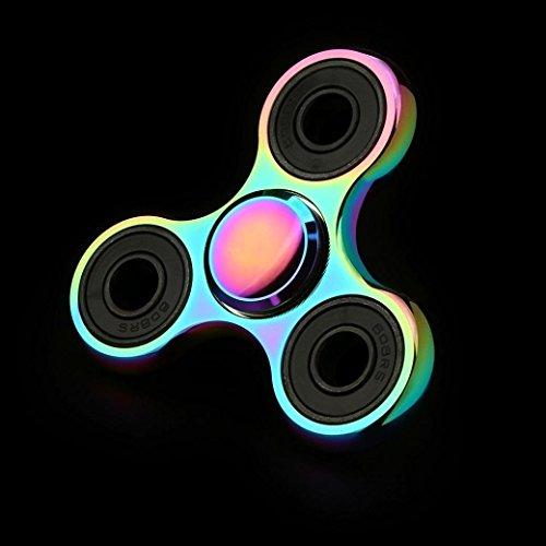 Fidget Spinner Ultra Durable Pure Cobre triángulo de juguete Reductor de estrés Anti Ansiedad para adultos y niños EDC embutidora de la media para niños/adultos - 5