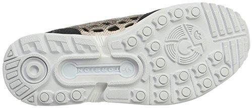 adidas - Zx Flux Lace, Sneaker Donna Nero/Dorato