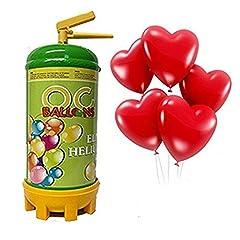 Idea Regalo - ocballoons - Bombola Elio USA Getta + 16 Palloncini Cuore Omaggio
