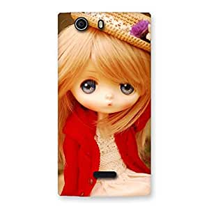 Cute Angel Wearing Hat Multicolor Back Case Cover for Canvas Nitro 2 E311