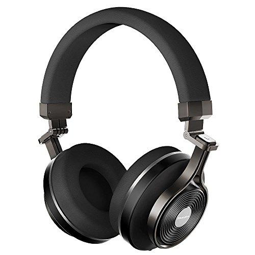Bluedio T3wireless Bluetooth cuffie con microfono integrato per telefono cellulare, colore: Nero