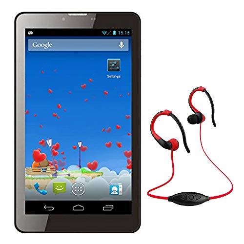 Buy IKALL IK1 3G Calling Tablet (Dual SIM, 7-inches) with MP3/FM Player Neckband, Black online in India at discounted price