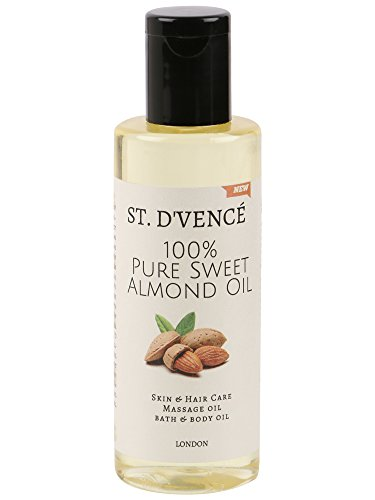 ST. D'VENCÉ 100% Pure Sweet Almond Coldpressed Carrier Oil, Almond Oil, 100ml