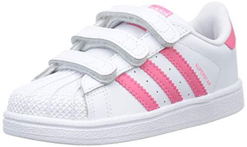 Adidas Superstar CF I, Zapatillas de Gimnasia Unisex Niños, Blanco FTWR White/Clear Pink/Clear Pink...