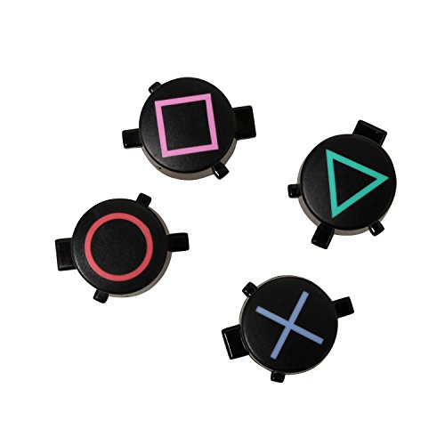 eJiasu Plastik DualShock 4 Kreis-Dreieck-Quadrat und X Wiedereinbau-Gesichts-Knöpfe Installationssatz für Playstation 4 (10sets)