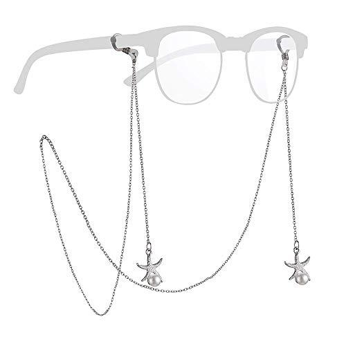 Royaume-Uni bonne vente de chaussures vente en ligne SFY - Cordon à lunettes - Femme Argenté argent métallique 80 cm