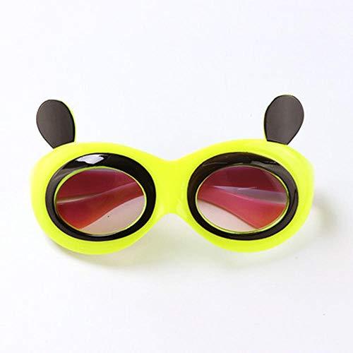 Kinder, Mädchen, Mütter, Frauen, Sonnenbrille, Sonnencreme, Cartoon-Sonnenbrille, Jungen, Brille, transparent, Panda-Augen, rosa @ Camel Panda Eye - Gelb