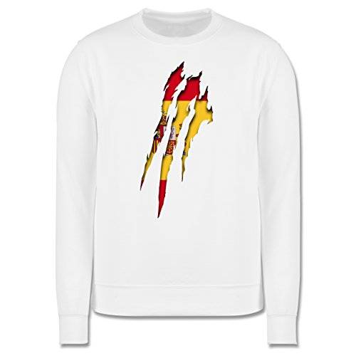 Länder - Spanien Krallenspuren - Herren Premium Pullover Weiß