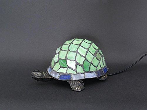 Tiffany-stil Lampe Schildkröte (Lampe Leuchte Tischlampe Tischleuchte Schildkröte in grün Tiffany-Stil (5767))
