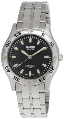 c4958597f0d1 Casio MTP1243D1A - Reloj de Caballero metálico Negro ...