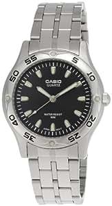 Casio mtp1243d1a–Montre de Chevalier métallique Noir