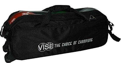Bowling-Tasche, Vise Grip 3 Ball Roller, Triple Roller in 12 verschiedenen Farben, für alle Gewichte und Bowling Bälle (Schwarz)