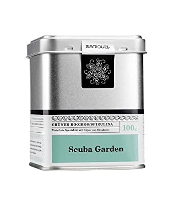 Samova Scuba Garden–Rooibos Vert/Spiruline 100g, pack de 1(1x 100g)
