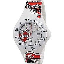 Reloj de tatuaje para ToyWatch JYT01WH; correa de silicona con diseño de pines blancos