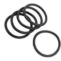 DealMux 5 piezas de 60 mm x 5 mm de goma de sellado del filtro de aceite Juntas tóricas Juntas Negro