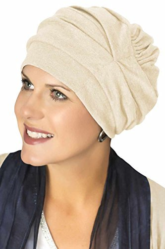 Trinity Cotton Turban: Chemo Turbans for Cancer - Cream by Headcovers Unlimited (Headcover Turban)