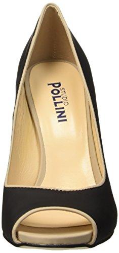 Pollini SA16209C11TT, Scarpe con Tacco a Punta Aperta Donna Nero (Nero/Taupe)